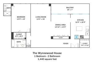 Wynnewood-1Bd-2Ba-1440sqft