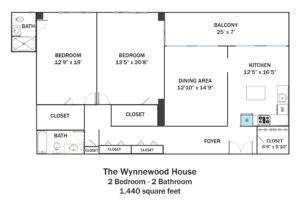 Wynnewood-2Bd-2Ba-1440sqft